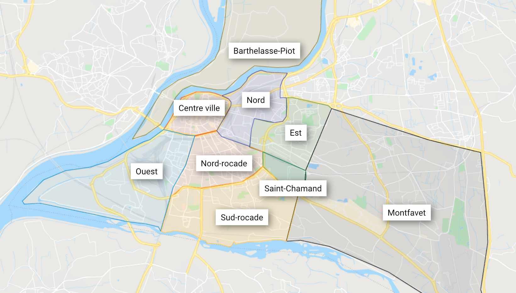 Quartiers d'Avignon